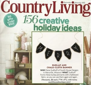 Woo! Hoo! Country Living Chose my Banners!