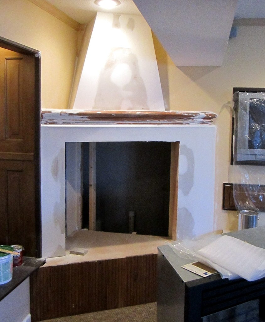 Faux Concrete Fireplace Surround And Mantel South House