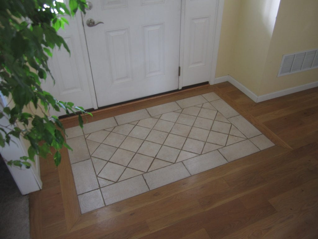 tile rug entry south house designs