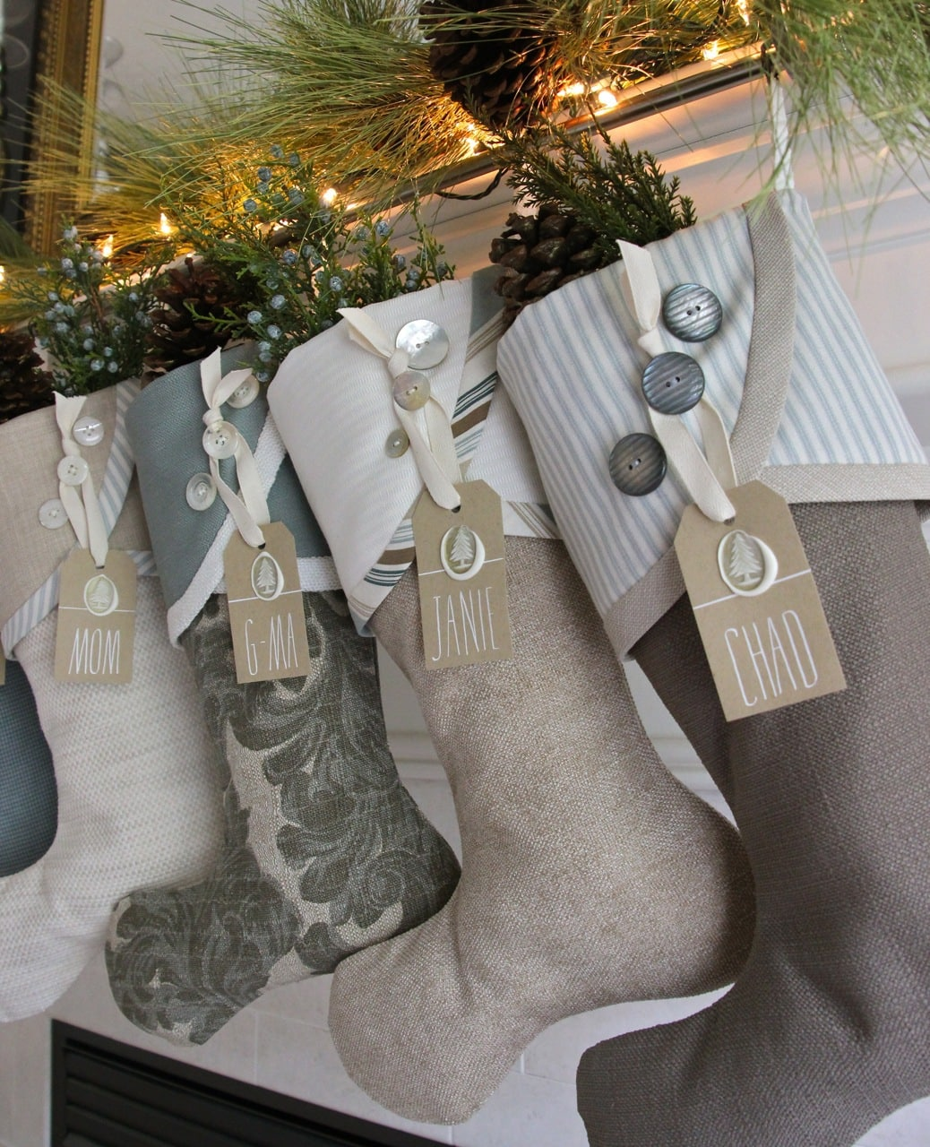 coastal christmas stockings are available here