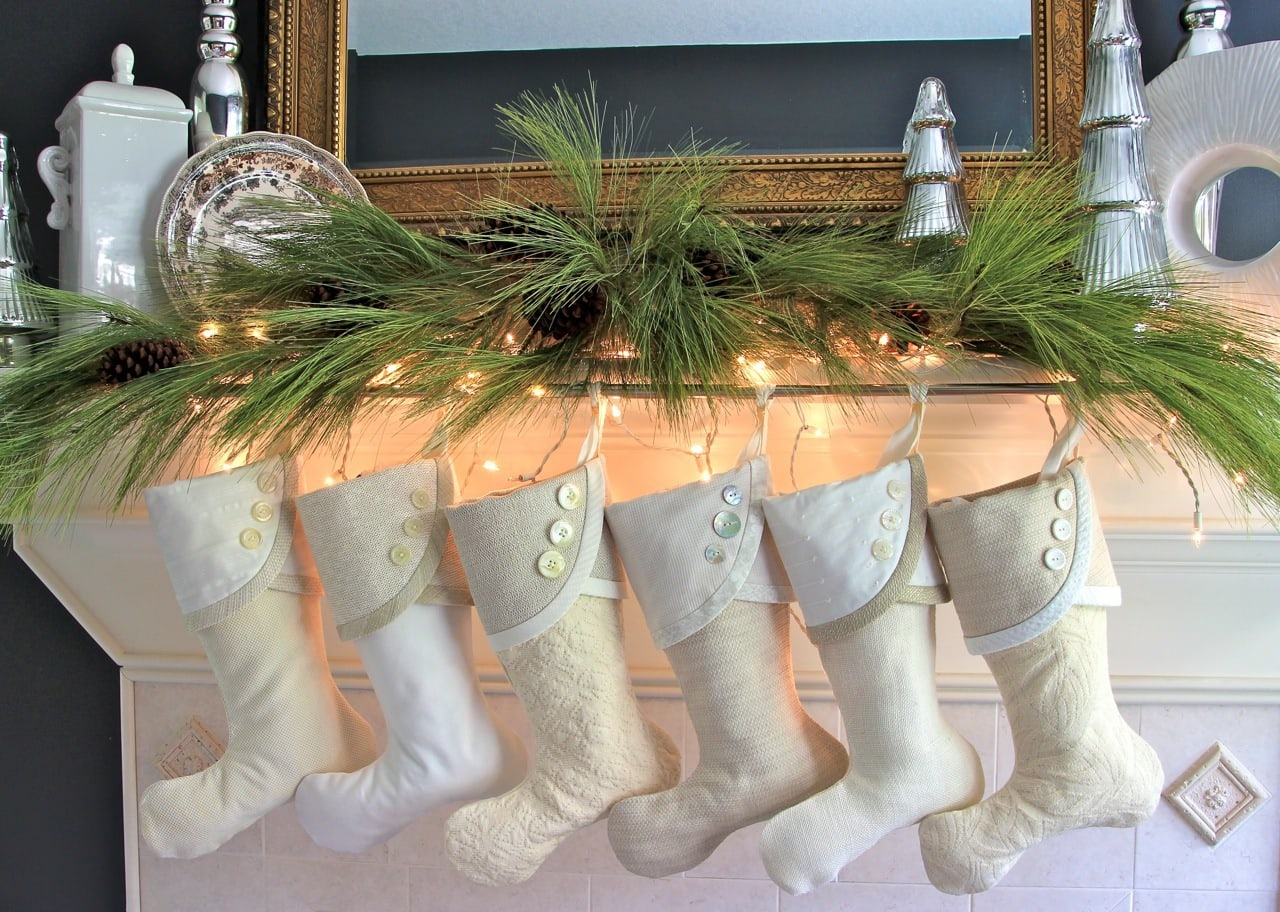 Vanilla Cream Christmas Stockings Are Available Here