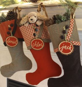 Christmas Stockings in Mocha with Cayenne