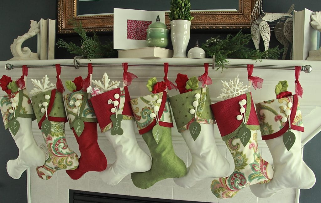 paisley christmas stockings red white and green - Red And Green Christmas Stockings