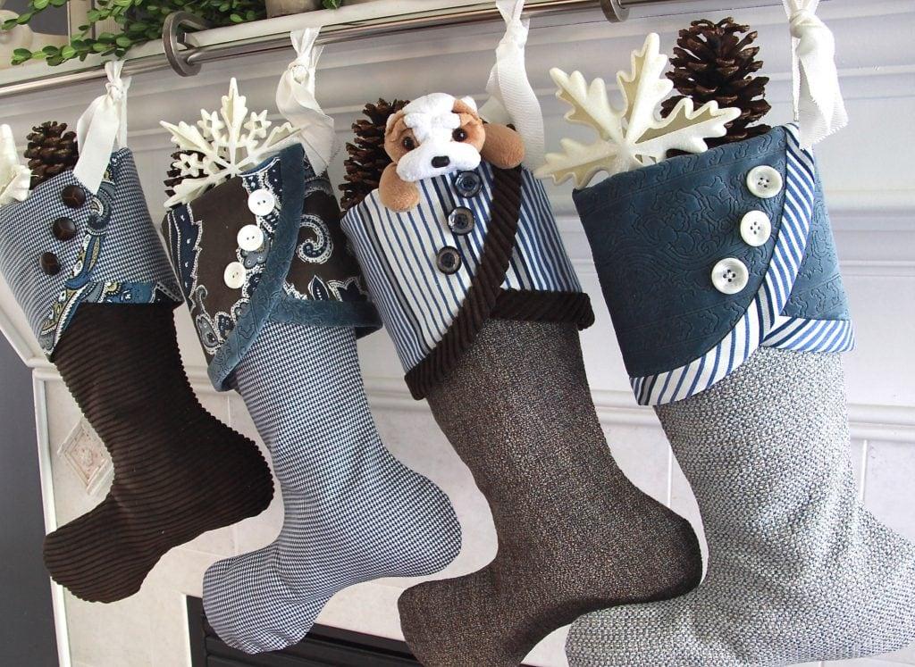 Indigo + Espresso Christmas Stockings