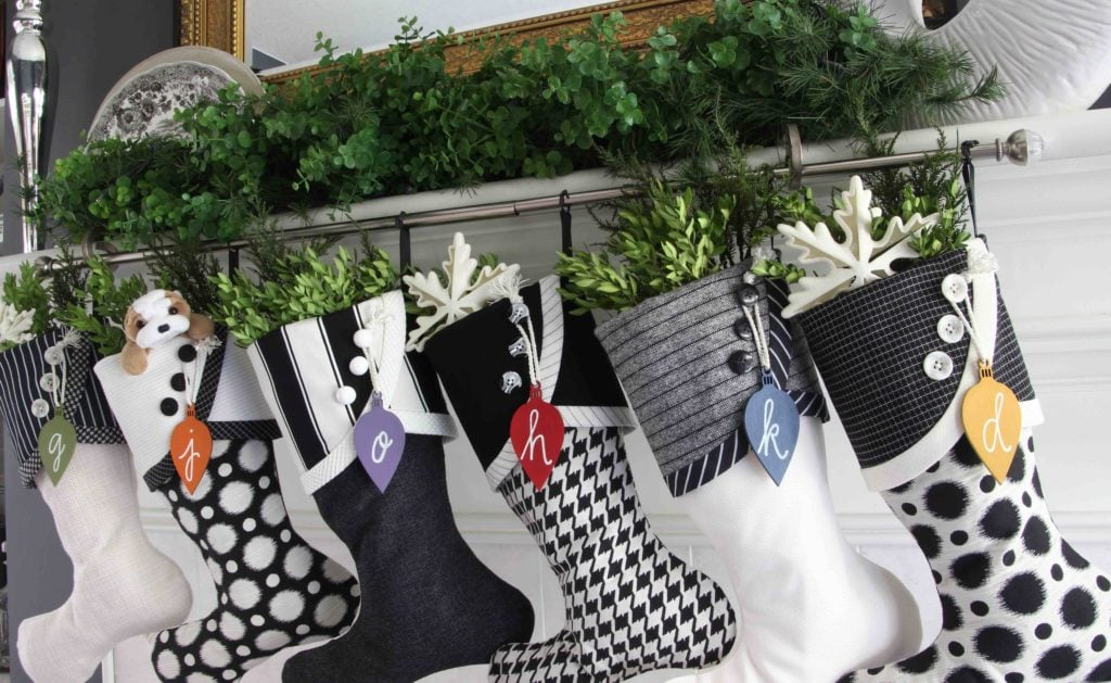 Black and white Christmas Stockings