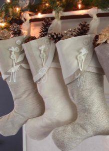 Eggnog & Cream Neutral Chrisymas Stockings