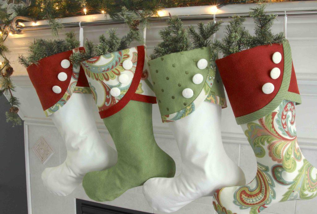 Paisley Panache Christmas Stockings #'s 4 through 7, with No Name Tags
