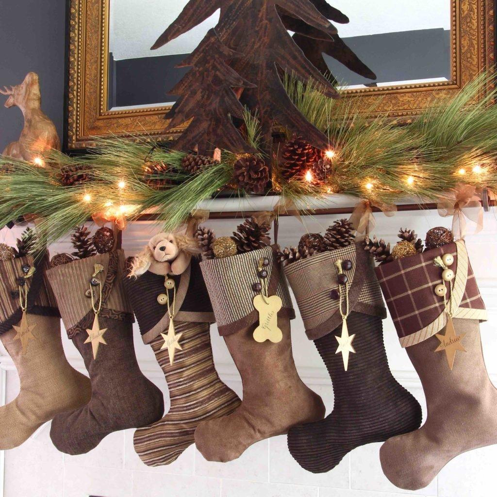 Brown Christmas Stockings