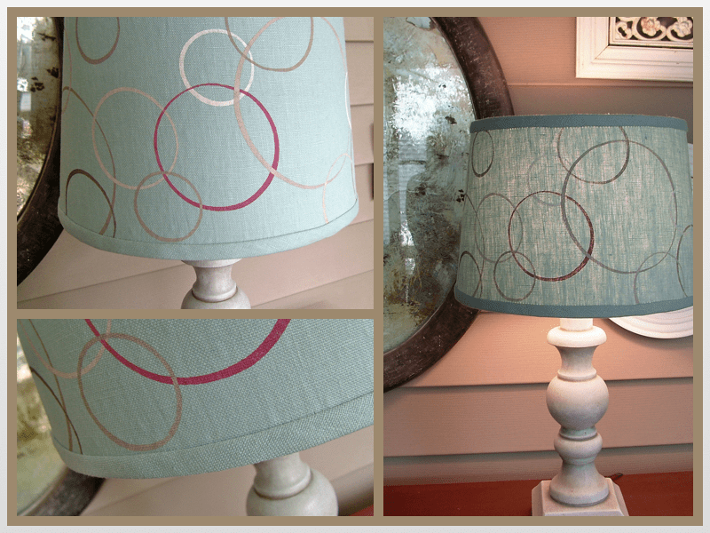 lampshade collage